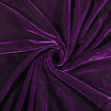 Tissu Velours jersey épais Violet - Par 10 cm