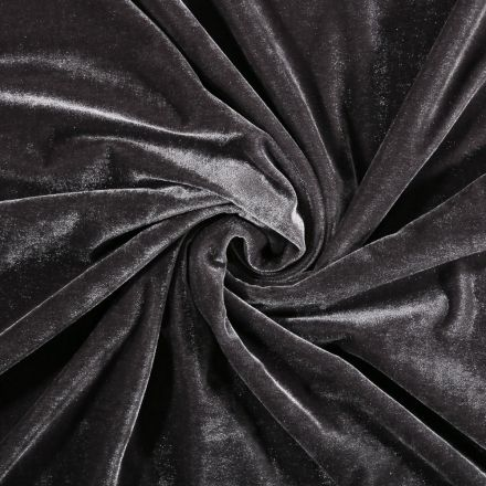 Tissu Velours jersey épais Gris - Par 10 cm