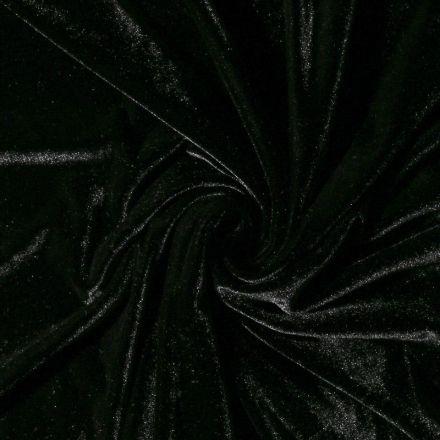 Tissu Velours jersey épais Noir - Par 10 cm
