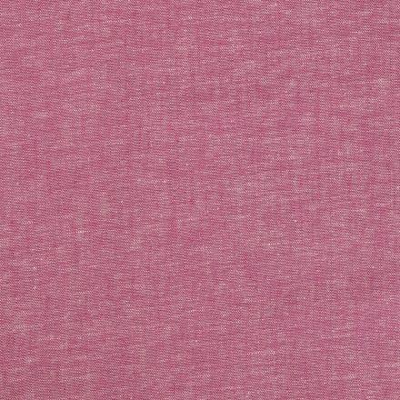 Tissu Lin Viscose uni Rose fuchsia chiné - Par 10 cm