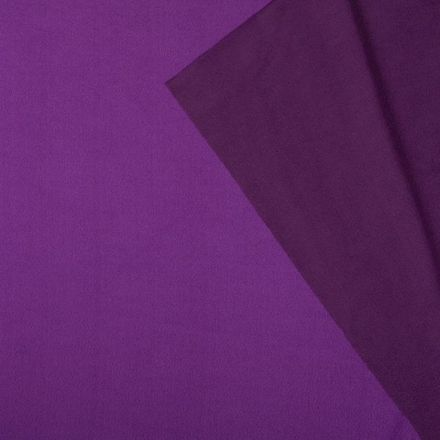 Tissu Polaire Double face Bicolore Violet et prune - Par 10 cm