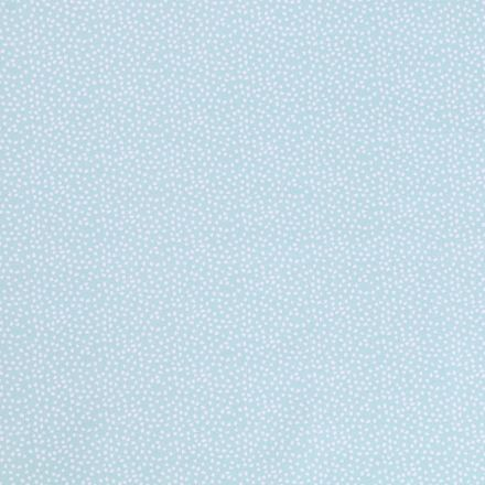 Tissu Jersey Arty Petits Points Blancs sur fond Menthe - Par 10 cm