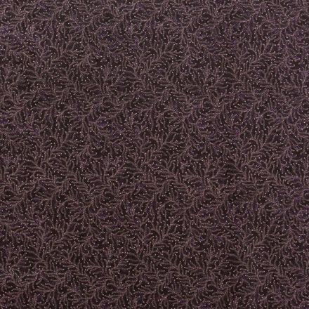 Tissu Coton Imprimé Lisa Studio Végétaux Aborigènes Violets sur fond Violet - Par 10 cm