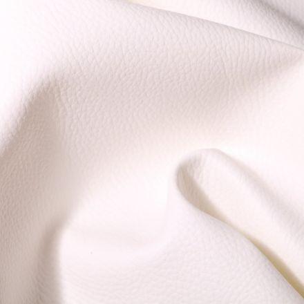 Simili cuir d'ameublement uni Blanc - Par 50 cm