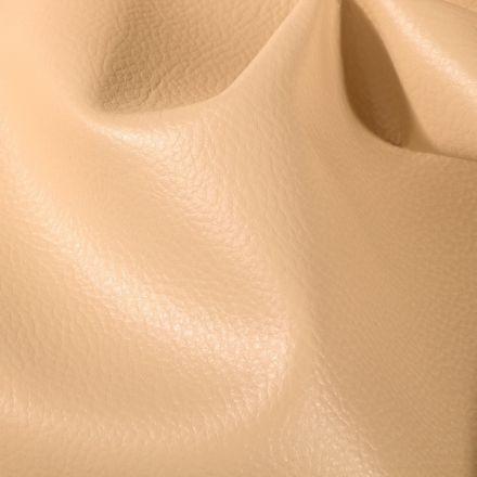 Simili cuir d'ameublement uni Beige - Par 50 cm