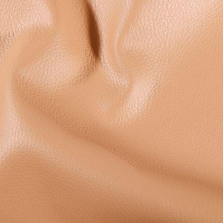 Simili cuir d'ameublement uni Cappuccino - Par 50 cm
