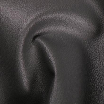 Simili cuir d'ameublement uni Gris ardoise - Par 50 cm