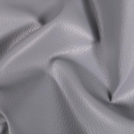 Simili cuir d'ameublement uni Gris clair - Par 50 cm