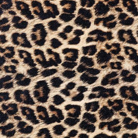 Simili Cuir Peau de Léopard beige, caramel et noire - Par 50 cm