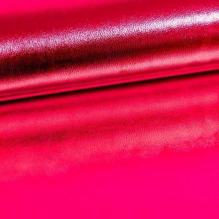 Simili Cuir Premium Métallisé Fuchsia - Par 50 cm