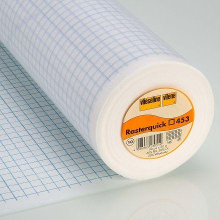 Entoilage Vlieseline Rasterquick imprimé carrés pour patchwork - Par 10 cm