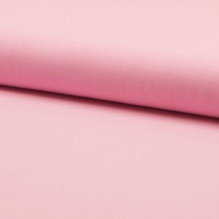 Tissu Coton uni Rose Bébé - Par 10 cm