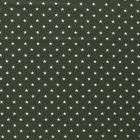 Tissu Jersey Coton Etoiles blanches sur fond Vert kaki - Par 10 cm