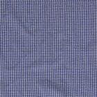 Tissu Seersucker Vichy  bleu jean sur fond Blanc - Par 10 cm