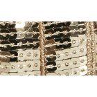 Galon Paillettes 22 mm Beige Paillettes x1m
