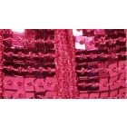 Galon Paillettes 22 mm Rose fuchsia Paillettes x1m
