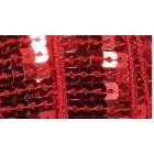 Galon Paillettes 22 mm Rouge Paillettes x1m