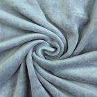 Tissu Jersey Velours tout doux Bleu gris x10cm