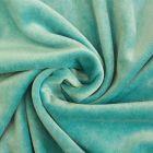Tissu Jersey Velours tout doux Bleu tiffany x10cm