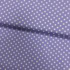 Tissu Coton imprimé Lilas Pois 8 mm Blancs - Par 10 cm