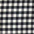 Tissu Vichy Très grands carreaux 17 mm Noir - Par 10 cm