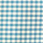 Tissu Vichy Grands carreaux 10 mm Bleu turquoise - Par 10 cm