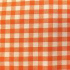 Tissu Vichy Grands carreaux 10 mm Orange - Par 10 cm
