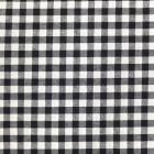 Tissu Vichy Grands carreaux 10 mm Noir - Par 10 cm