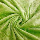 Panne de velours Vert pomme x10cm