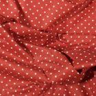 Tissu Coton enduit Petits pois blancs sur fond Terracotta - Par 10 cm