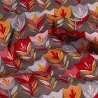 Tissu Coton imprimé LittleBird Tulipes Pop sur fond Gris - Par 10 cm