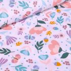 Tissu Coton imprimé LittleBird Lola sur fond Blanc - Par 10 cm