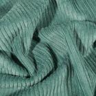 Tissu Velours côtelé uni Vert d'eau - Par 10 cm