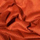Tissu Velours côtelé uni Brique - Par 10 cm