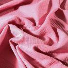 Tissu Double gaze Lina Pois dorés sur fond Vieux rose - Par 10 cm