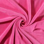 Tissu Jersey Velours tout doux Rose bonbon x10cm