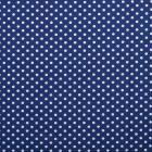 Tissu Coton imprimé Bleu Pois 8 mm Blancs - Par 10 cm