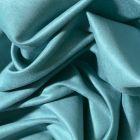 Tissu Suédine d'ameublement Bleu agathe - Par 10 cm
