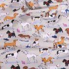 Tissu Coton imprimé Arty Doggy's sur fond Gris clair - Par 10 cm
